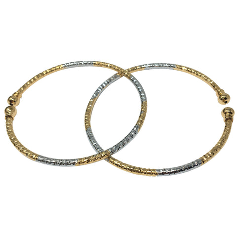 Steorra Jewels Jewellery Silver and golden adjustable bracelet Combo of two for girls and womens - Steorra Jewels