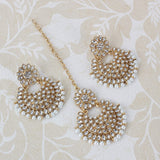 Steorra jewels Ethnic Kundan Earings with MaangTikka for Women - Steorra Jewels