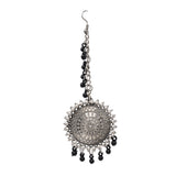 Silver Oxidised Afghani Chandbali Dangler Earring for Women and Girls