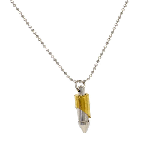 Steorra jewels Silver Coated Golden Combo Bullet Pendant Jewelry - Steorra Jewels