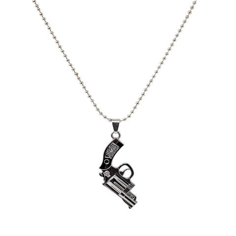 Steorra jewels Silver Coated Gun Antique Men Pendant Jewelry - Steorra Jewels