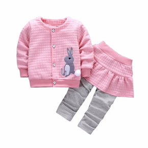 2Pcs Infant Toddler Baby Girls clothes cute lovely