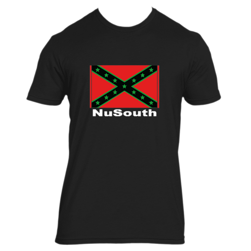 NuSouth Black Next Level T-Shirt Large Flag