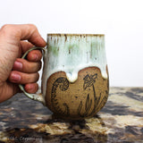 Botanical Fern and Daffodil Mug