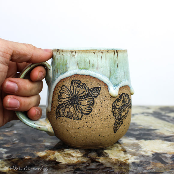 Botanical Dogwood Mug - B