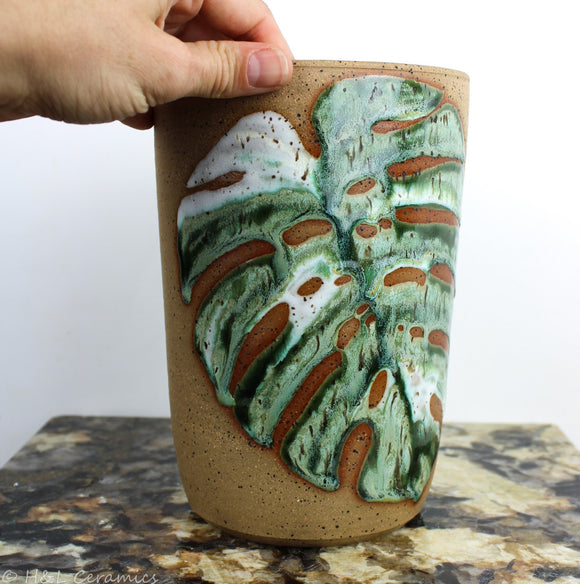 Variegated Monstera Vase - A