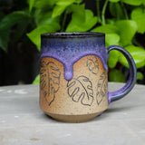 Botanical Monstera deliciosa Mug - H