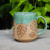 Botanical Monstera deliciosa Mug - E