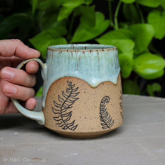Botanical Christmas Fern Mug - D
