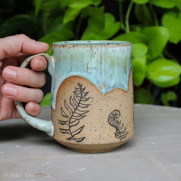 Botanical Christmas Fern Mug - C