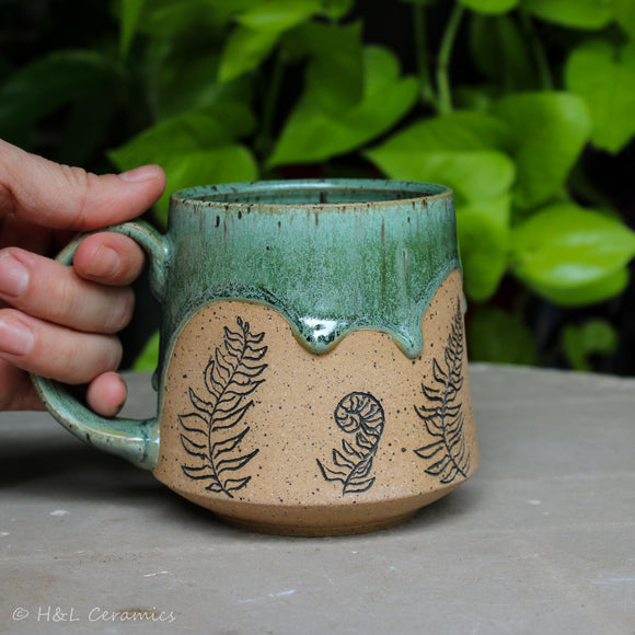 Botanical Christmas Fern Mug - B