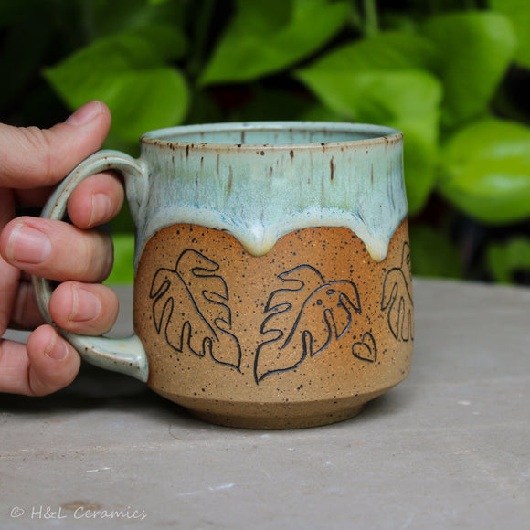 Botanical Monstera deliciosa Shorty Mug - D