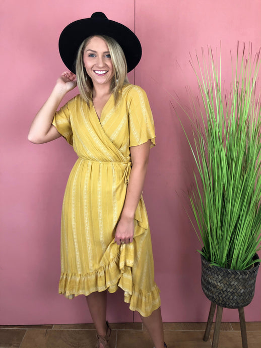 Savannah Faux Wrap Dress