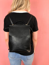 Load image into Gallery viewer, Aspen Vegan Leather Backpack - Black