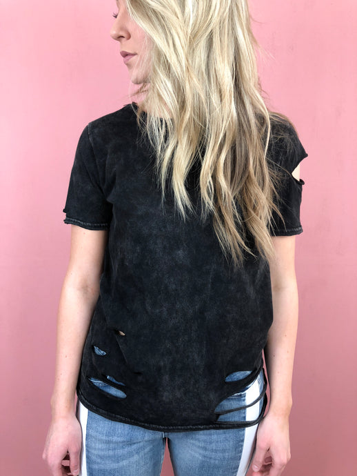 Denver Distressed Tee - Black
