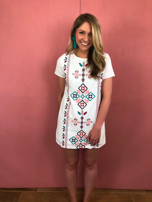 Georgia Embroidered Dress