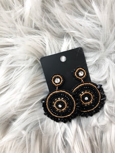 Midnight Black Stone Earrings
