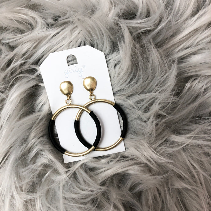 Breck Black Accent Earrings