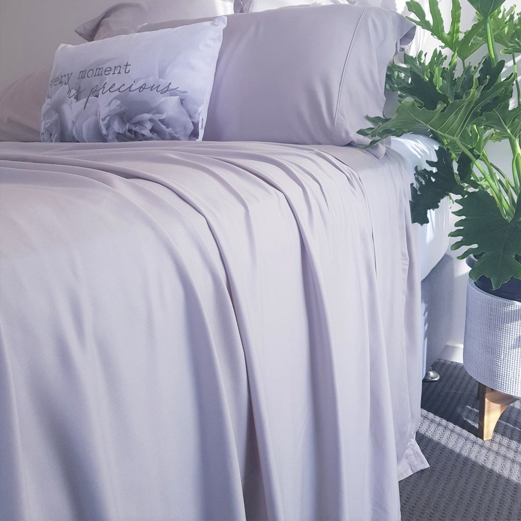 100% Organic Bamboo Sheet Set - DUSTY GREY