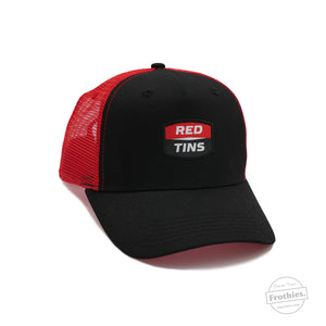 Red Tins Trucker - Black
