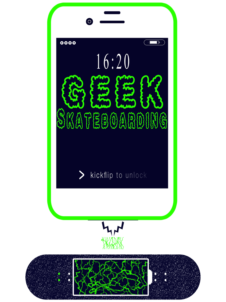 GPhone 16:20 Shirt - Geek Skateboarding
