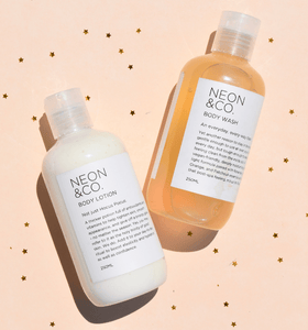 Vegan Orange and Mango Body Wash and Body Lotion - Value Pack
