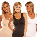 Comfortable Wireless Cami Tank Top (2pcs/set)-Clothes & Accessories-airvog.com-WHITE/WHITE-S-airvog