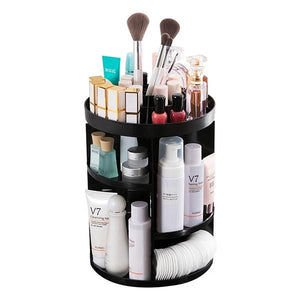 50% OFF TODAY-DIY Adjustable Makeup Carousel Spinning Holder Storage Rack-Clothes & Accessories-airvog.com-WHITE-airvog