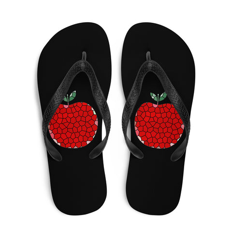 Art Apple NYC Flip-Flops Center Black