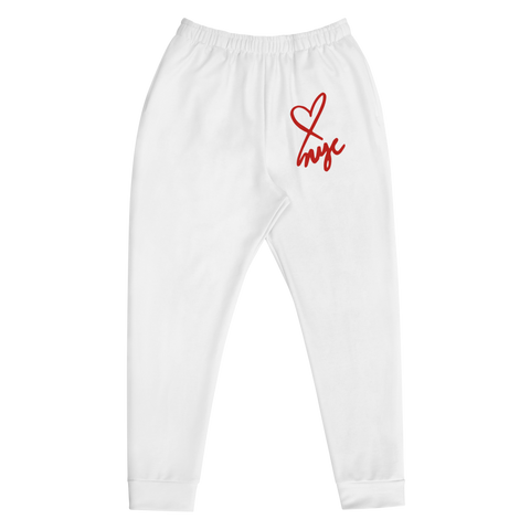 NEW YORK ROMANTIC Men's Joggers <3 NYC All White