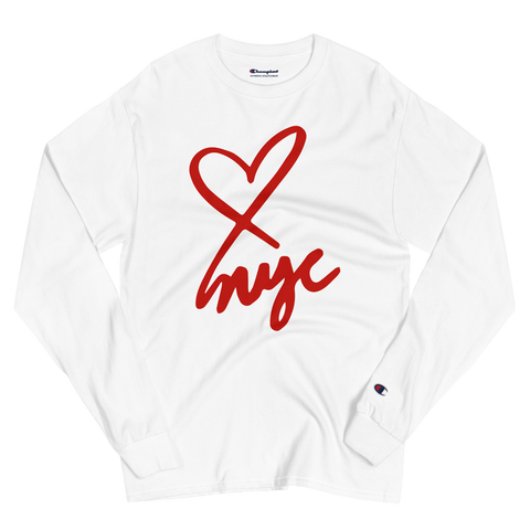 ART APPLE NYC Men's Champion <3 NYC Long Sleeve Shirt