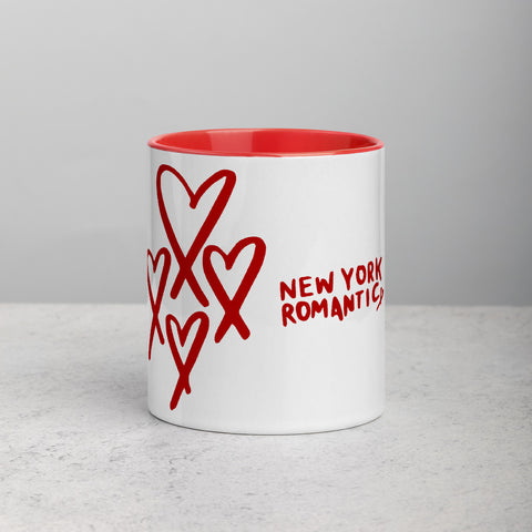 NEW YORK ROMANTIC Mug with Red (4 Heart)