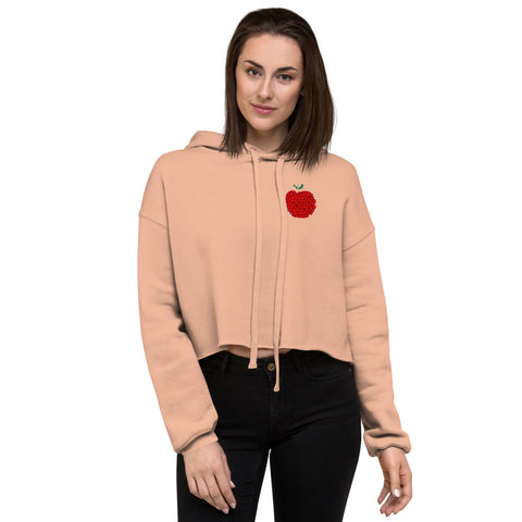 Art Apple NYC Women Crop Hoodie