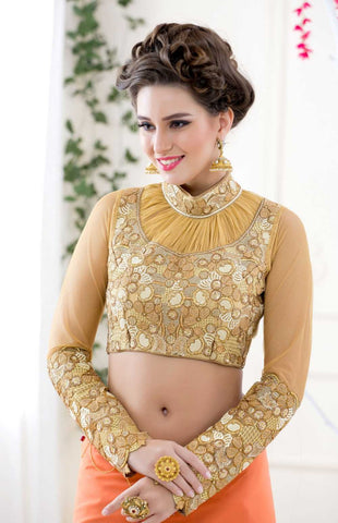 Stand Collar Blouse Designs : High neck blouse designs for sarees u natasha couture