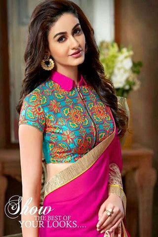 Stand Collar Neck Designs For Blouse : High neck blouse designs for sarees u natasha couture
