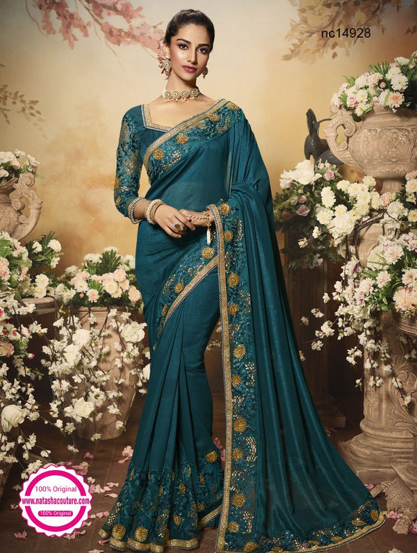Blue Silk Saree NC14928