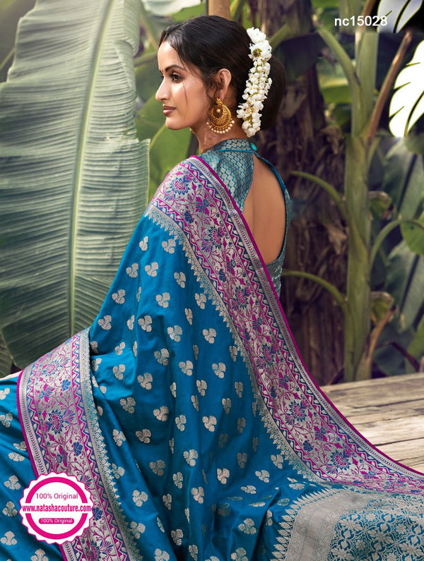 Blue Silk Saree NC15028