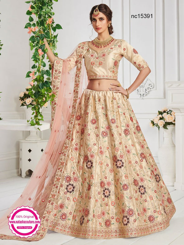 Cream Silk Lehenga Choli NC15391