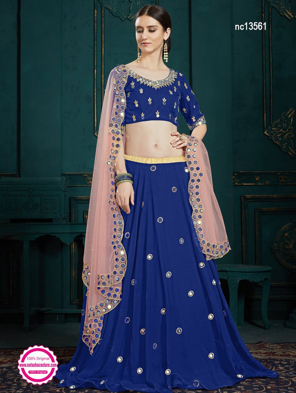 Dark Blue Georgette Lehenga Choli NC13561