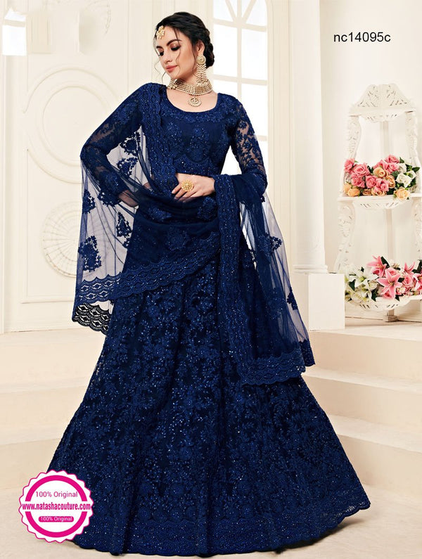 Dark Blue Net Lehenga Choli NC14095C