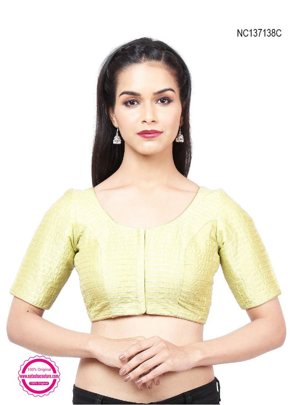 Dull Green Silk Readymade Blouse NC137138C