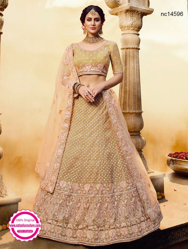 Gold Net & Gota Silk Lehenga Choli NC14596