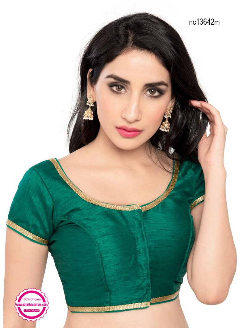 Green Brocade Designer Readymade Blouse NC13642M