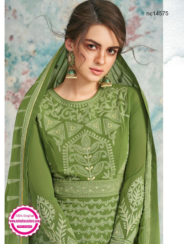 Green Georgette Anarkali Suit NC14575