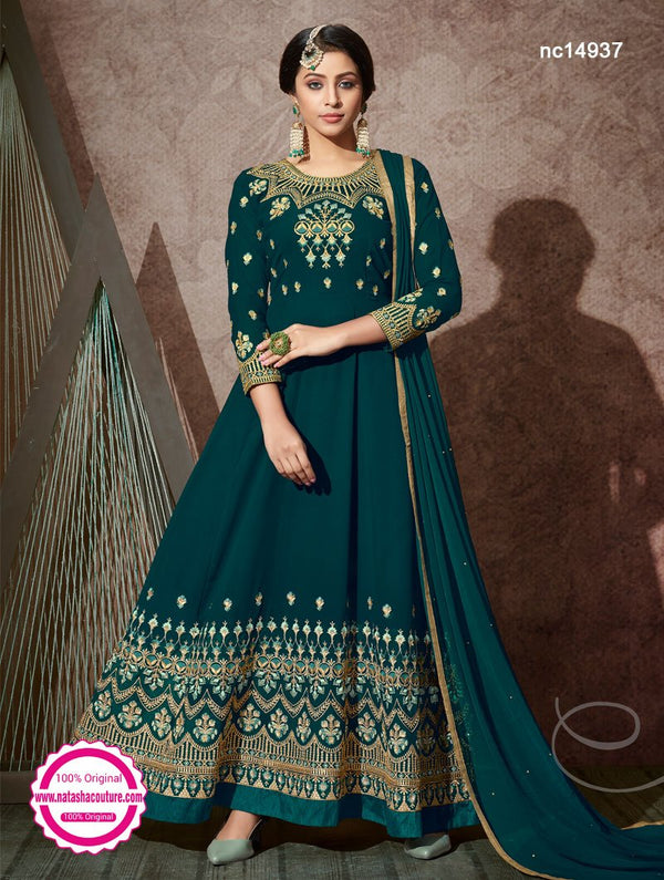 Green Georgette Anarkali Suit NC14937