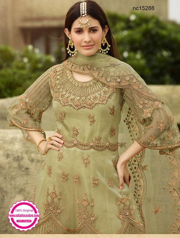 Green Net Sharara Suit NC15288