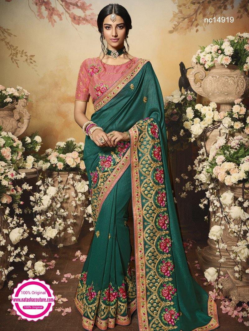 Green Silk Saree NC14919