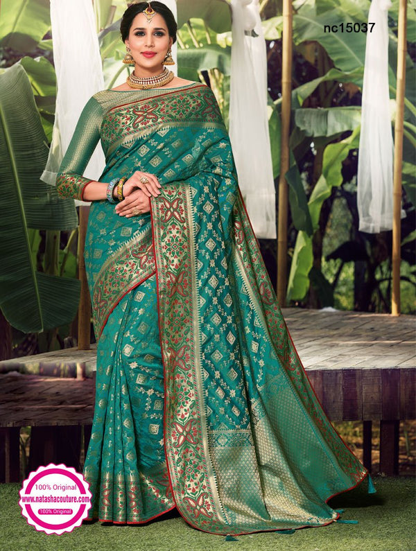 Green Silk Saree NC15037