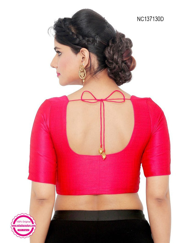 Hot Pink Silk Readymade Blouse NC137130D