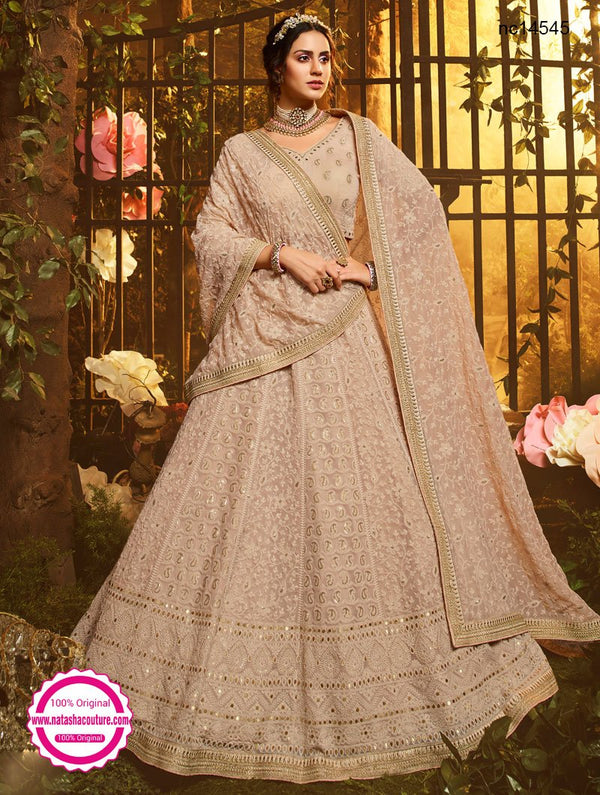 Light Brown Georgette Lehenga Choli NC14545